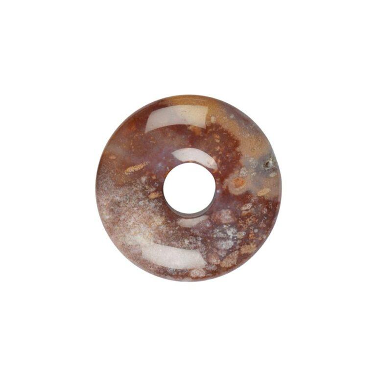 Kleiner bunter Jaspis (Buntjaspis) Donut, 30 mm Durchmesser