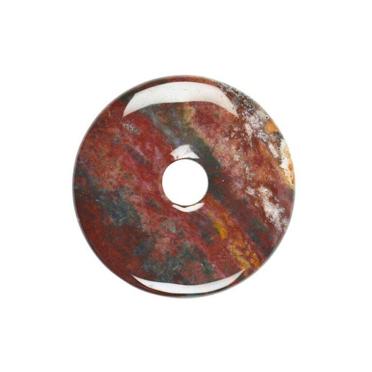 Mittelgroßer bunter Jaspis (Buntjaspis) Donut, 40 mm Durchmesser