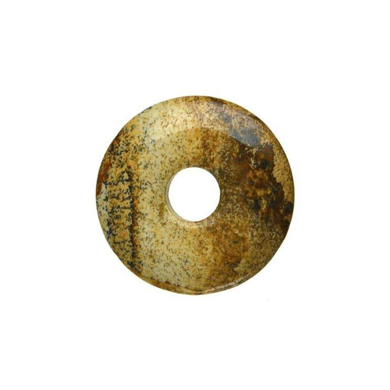 Kleiner Landschaftsjaspis Donut, 30 mm Durchmesser