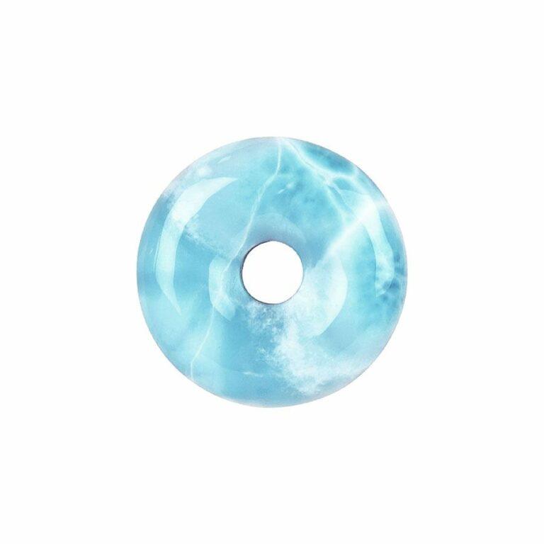 Larimar Donut, 33-37 mm Durchmesser