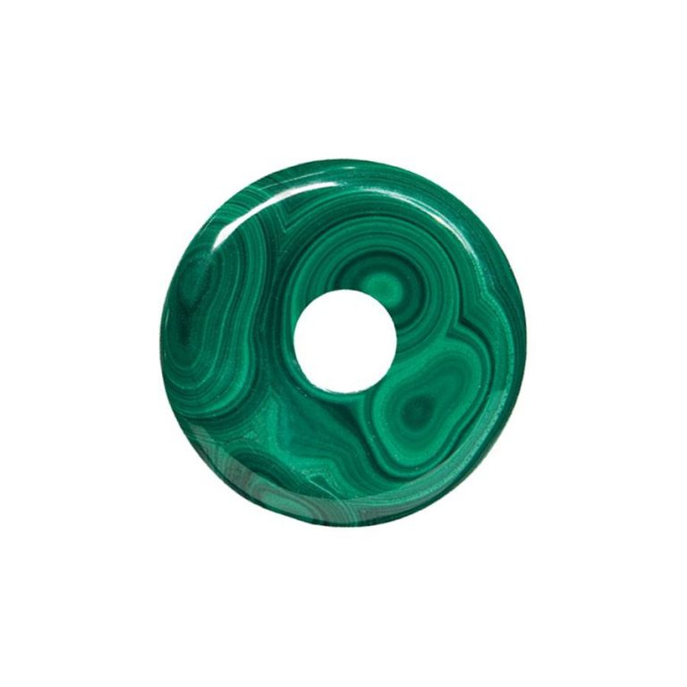 Malachit Donut, 35 mm Durchmesser