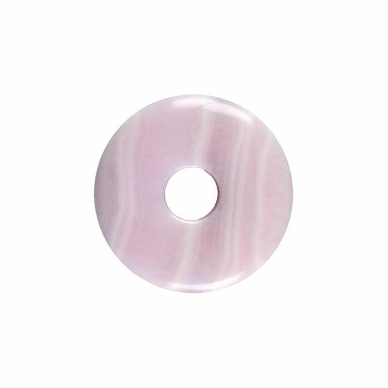 Kleiner Calcit (Manganocalcit) Donut, 30 mm Durchmesser