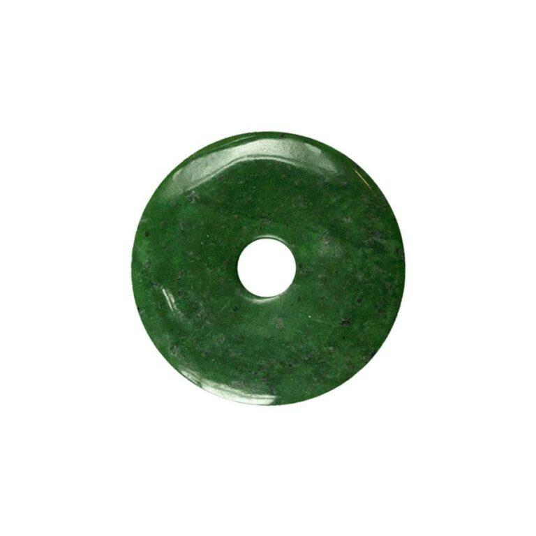 Kleiner Nephrit Donut, 30 mm Durchmesser
