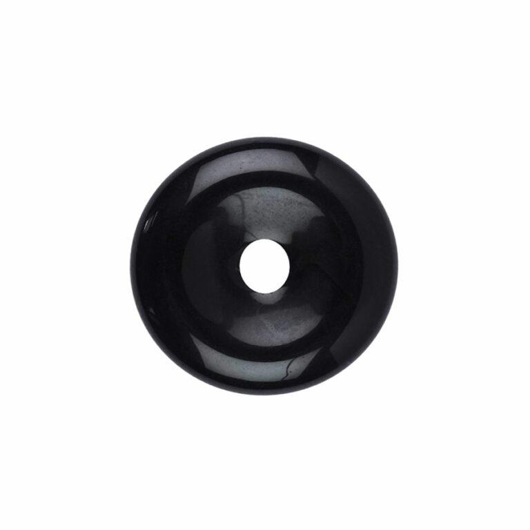 Kleiner Obsidian (Regenbogenobsidian) Donut, 30 mm Durchmesser