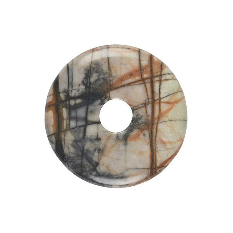 Mittelgroßer Picassomarmor Donut, 40 mm Durchmesser