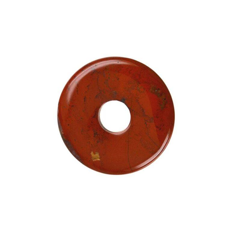 Kleiner roter Jaspis Donut, 30 mm Durchmesser