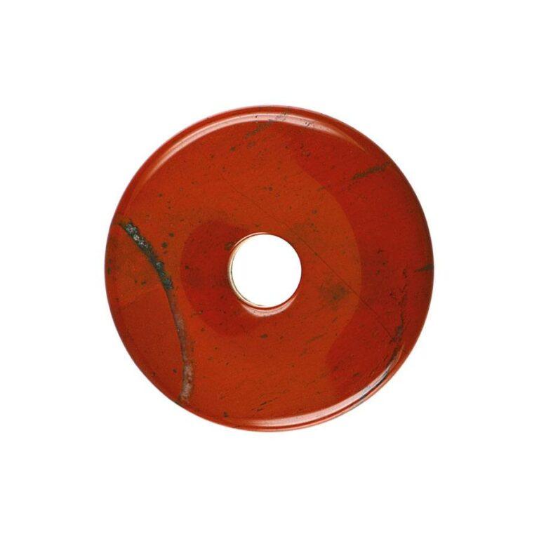 Mittelgroßer roter Jaspis Donut, 40 mm Durchmesser