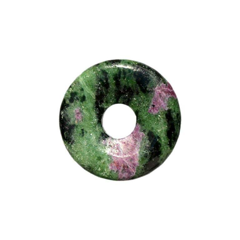 Kleiner Zoisit/Rubin Donut, 30 mm Durchmesser