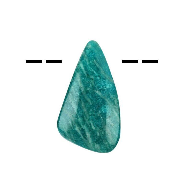 Tropfenförmiger Amazonit Cabochon gebohrt - mittel