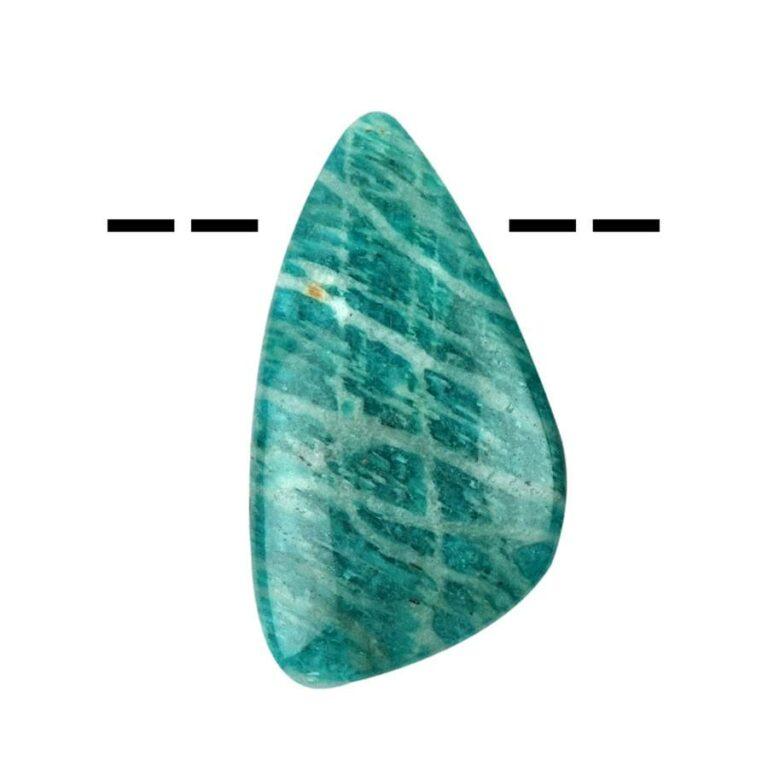 Tropfenförmiger Amazonit Cabochon gebohrt - groß