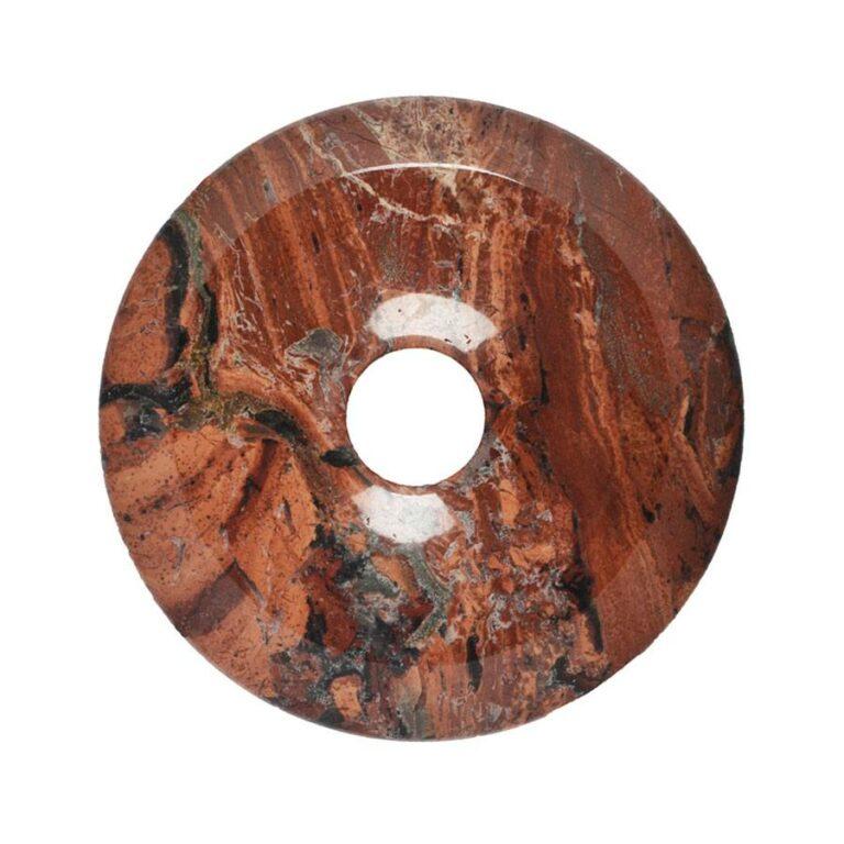 Großer Jaspis (Brekzienjaspis) Donut, 50 mm Durchmesser