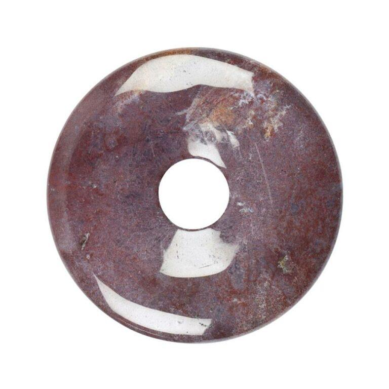 Großer Buntjaspis Donut, 50 mm Durchmesser