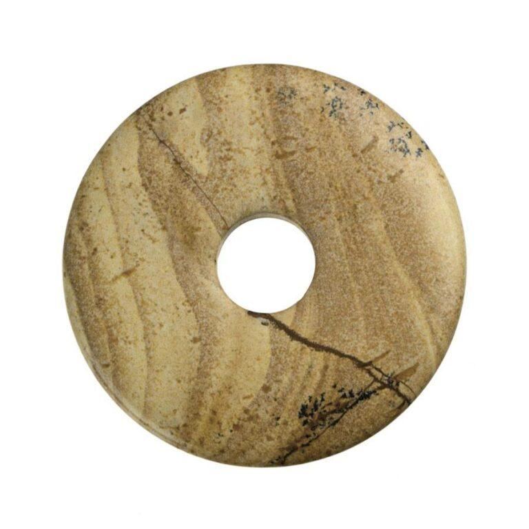 Großer Landschaftsjaspis Donut, 50 mm Durchmesser